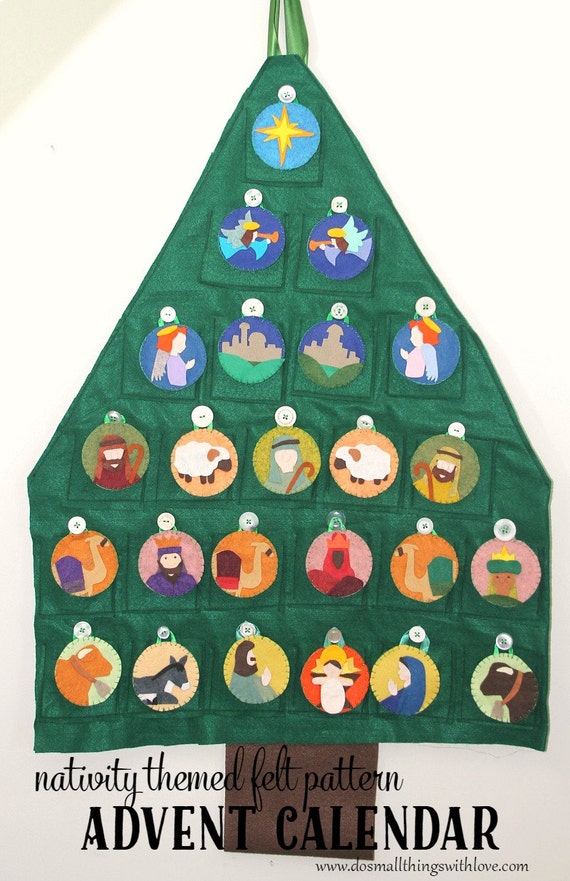 Advent Calendar Pattern Nativity Themed Christmas Countdown
