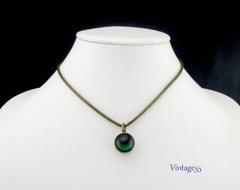 Pendant Necklace two sided Mystical Orb 1970 Vintage