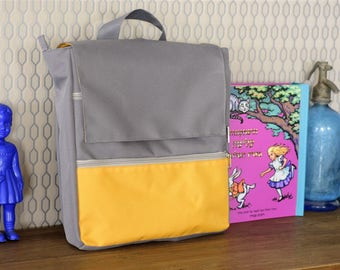 Mustard yello vegan laptop backpack for women. Designer backpack for everyday use. Canvas backpack, Back to School.