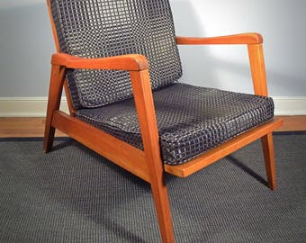 Vintage Danish Lounge Chair with New Cushions and Upholstery
