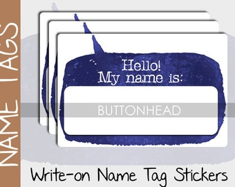 10 Blank Name Tags Stickers - Event, Conference, Class Reunion, Family Reunion Name Tags - Attendee Meeting Registration