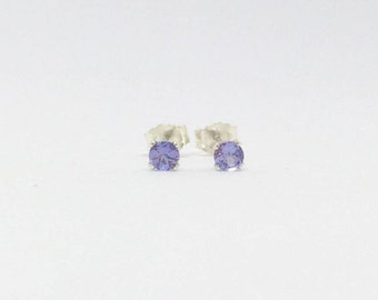 Tanzanite earrings, natural tanzanite studs, 925 sterling silver tanzanite stud earrings, silver tanzanite earrings, gemstone earrings