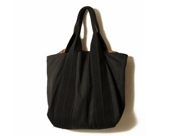 Black canvas bag, Large Canvas bag, Black Tote, Shopper bag, Weekender bag, Large tote, Black bags, черный мешок, мамы сумка, холщовая сумка