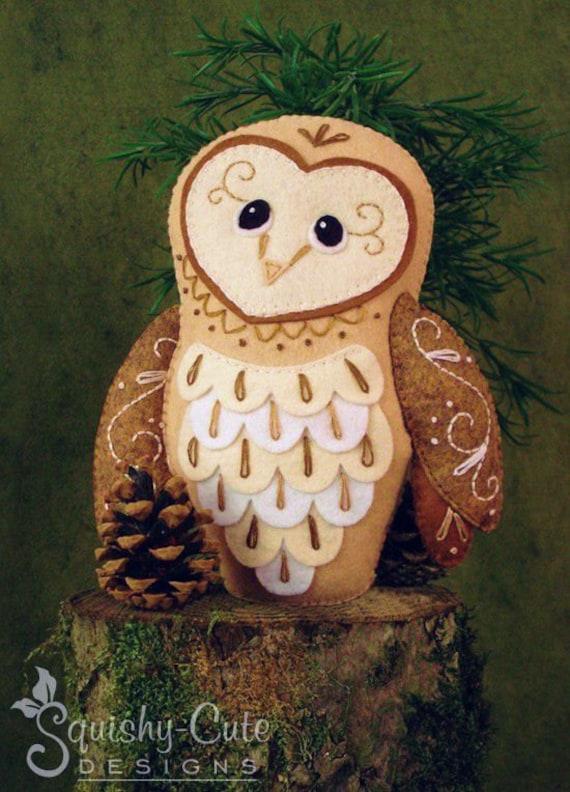 Stuffed Felt Owl Pattern