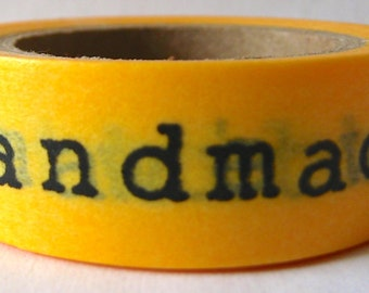 """SALE Washi Tape """"Handmade with Love""""  15mm x 10 Meters"""