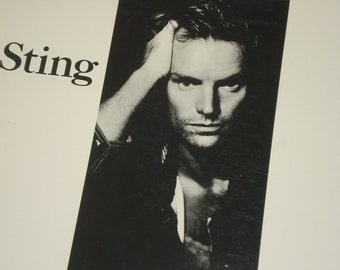Sting record album, Sting Nothing Like The Sun vintage vinyl record