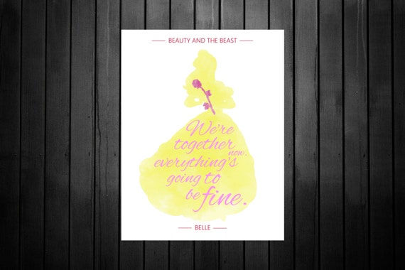 Beauty And The Beast 2017 Characters Quote Printable Disney