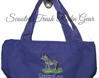 Free Shipping - Personalized Zebra Lunch Bag - More Colors - monogrammed - NEW