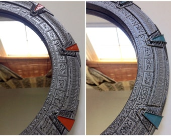 "Large Stargate Mirror. SG1 or SGA - Approx 12"" Diameter"