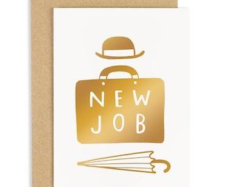 New Job Card - Work Card - Congratulations Card - Gold Foil Card - CC261