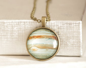 Jupiter Necklace Space Jewelry Solar System Jupiter Pendant Jupiter Jewelry Space Jewelry Solar System Galaxy Universe Space Planet