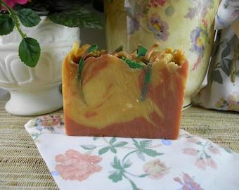 Gardenia Rose Goat Milk Shea Soap Handmade Homemade Natural