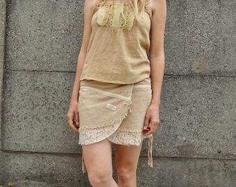 Beige hemp fairy skirt