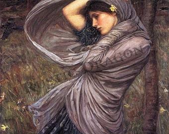 "John William Waterhouse ""Boreas"" 1903 Reproduction Digital Print Wicca Pagan Goddess"