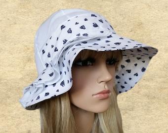 Cotton cloche hats, Summer womens hats, Suns cotton hats, Women's fabric hats, Cotton hats lady, Beach hat women, Trendy summer hat