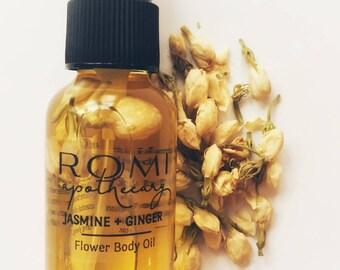 Jasmine & Ginger Body Oil, organic ingredients, natural skin care