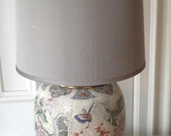 Ceramic Chinoiserie Lamp