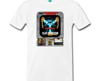 Back to the Future Flux Capacitor Shirt, delorean, hoverboard, sci-fi, 80's, great scott, marty mcfly, delorean time machine, flux capacitor