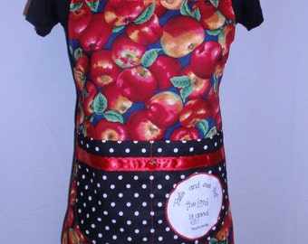 Golden Red Apple Apron
