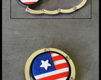 American flag bag hook