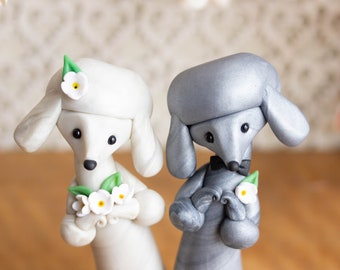 Poodle Wedding Cake Topper by Bonjour Poupette