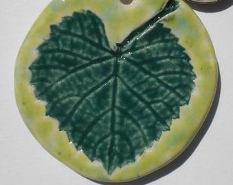 Porcelain Leaf Pendant