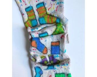 Hand-dyed yarn, Indie dyed yarn, hand dyed yarn OPERATION SOCK DRAWER- dyed to order -Hand-painted Sock Blank merino/nylon double stranded