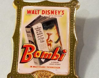 Disney Bambi Lapel Pin, Bambi Book Lapel Pin, Bambi Book Pin, Disney Bambi Lapel Pin, Lapel Pins, Hat Pins