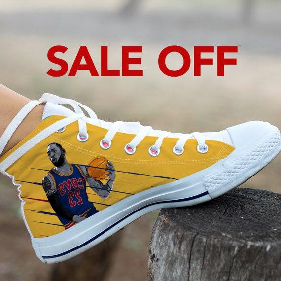 James Converse Sneaker High Angeles Basketball James LeBron LeBron Shoes Custom Custom King NBA Cleveland Cavaliers Custom Top Lakers Los wE184wxdq