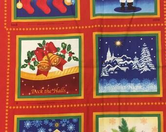 A Joyful Season Christmas Soft Fabric Book Panel #45423-R