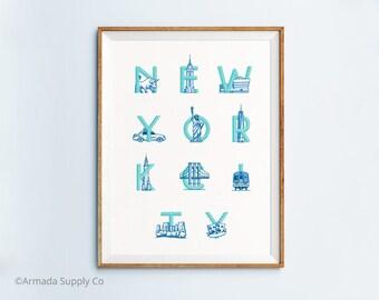 New York City Print - New York City Art - New York City Poster - New York City Wall Art