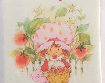 FREE SHIPPING, Vintage Strawberry Shortcake Tally Cards, 8-Two Table Tallies,