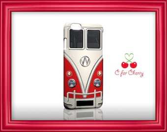 VW bus red 3D Wrapped Phone Case iPhone X, 8 , 8 plus , 7 , 7 plus , 6s , 6s Plus , 5s , 5 / Samsung S7 , S8 / LG / Sony cases