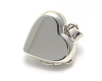 small smooth Heart Locket in 925 sterling silver