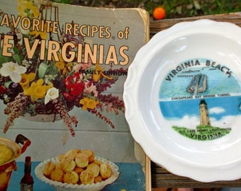 Vintage Virginia cookbook and Va. Beach coaster Favorite Recipes of The Women's Club Leaders of Va. and W. Va. 900 recipes collection 1964