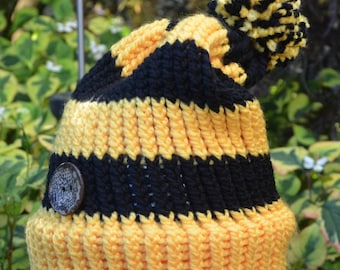 Harry Potter/Hufflepuff/Adult Slouchy Knit Hat