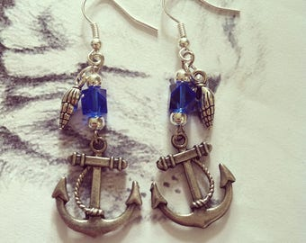 "Earrings ""Sailors and Anchors"""