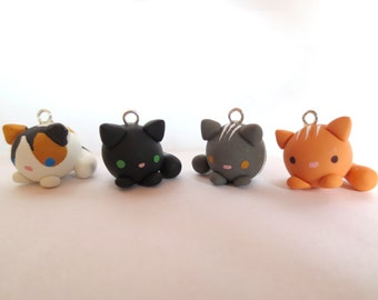 Polymer Clay Cat Charm