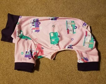Pink camper Pet Pajamas