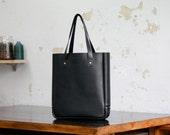 Leather Tote Bag, Black, Medium Tote, Closure, Shopper Tote, Tall, Laptop, Folio, Corporate, Macbook, Australian, Paterson Salisbury
