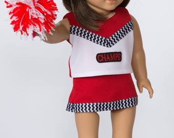 "Go! Fight! Win! Cheerleader outfit for 18"" doll"