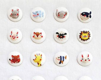 Cute animal embroidery by cicire - Korean embroidery book