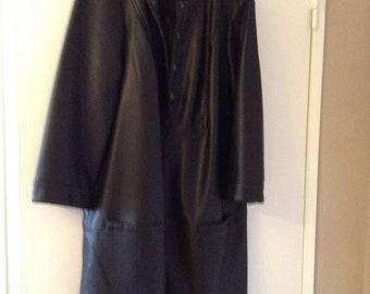 Vintage dress faux leather