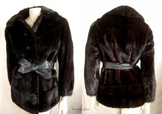 FUR MAHOGANY Ruby Darkest Ranch Pristine Luxury Jacket Coat ~ MINK gift Brown wYdWnwq5g4