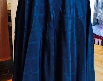 Beautiful Black Rayon circle skirt 1950