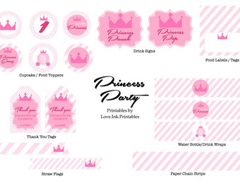 Princess Party Printable Decorations