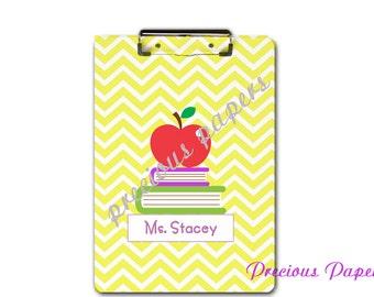 Personalized teacher clipboard teacher gifts chevron clipboard for teachers teacher appreciation gift