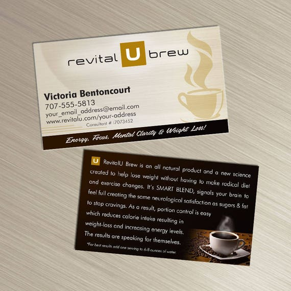 Revital u brew business cards tan design durable 16pt colourmoves