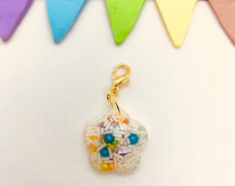 Flower with Sprinkles Charm
