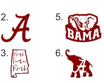 Alabama Crimson Tide Vinyl Decals